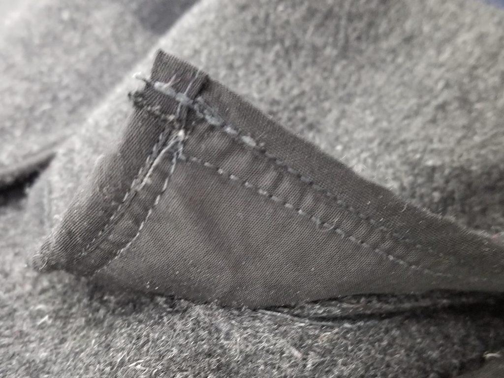 バーバリー偽物の縫製