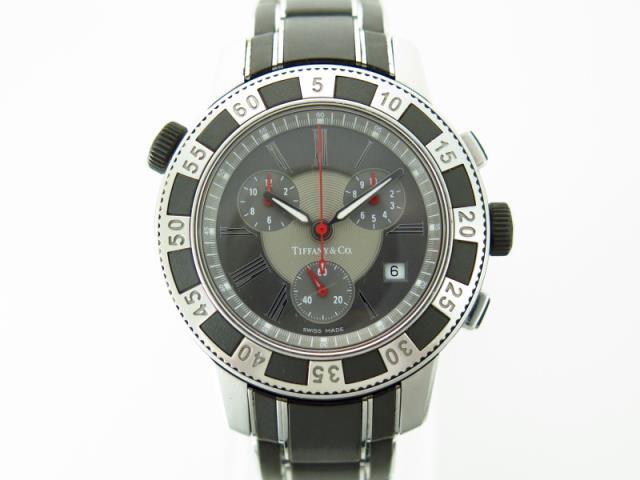 ティファニー買取クロノグラフ腕時計