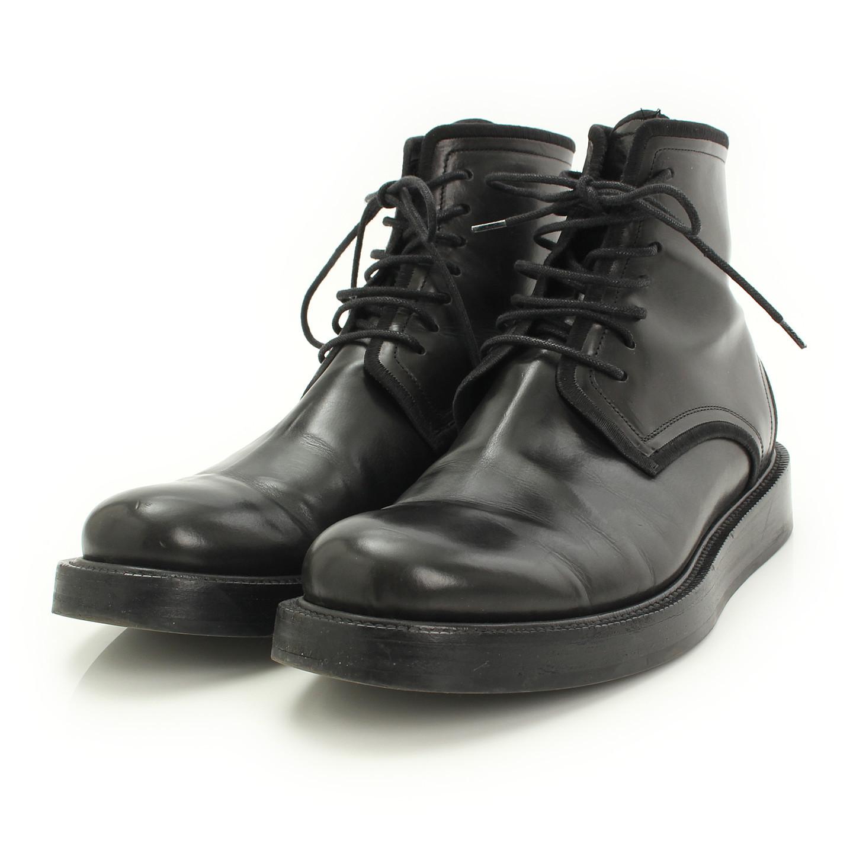 ディオールオム レザー ブーツ