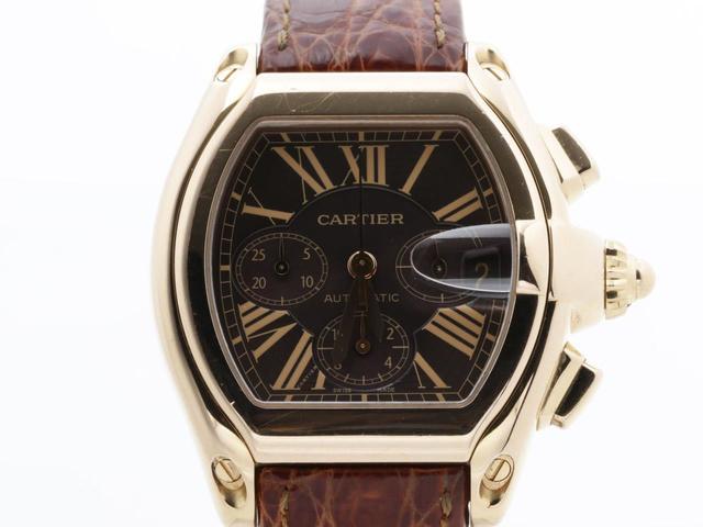 カルティエ ロードスター クロノグラフの腕時計