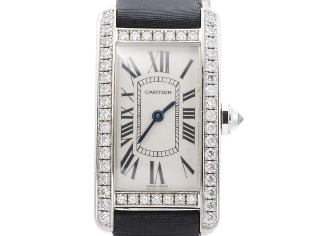 カルティエ タンクアメリカンSMの腕時計