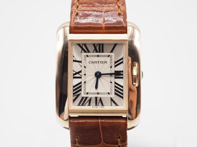 カルティエ タンクアングレーズの腕時計