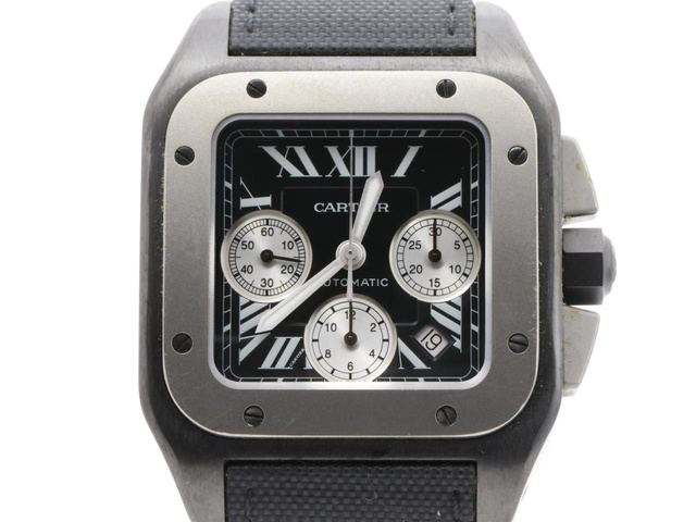 カルティエ サントス100 クロノの時計