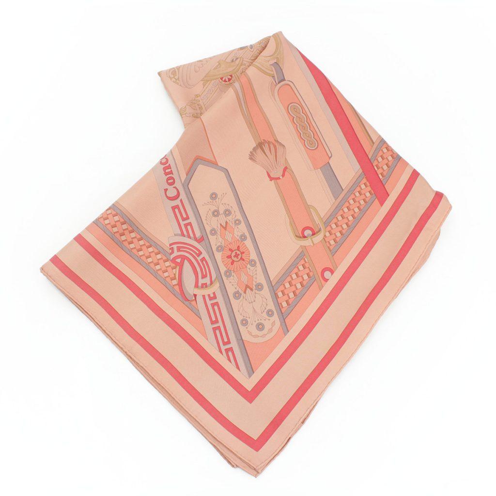 ディップダイ カレ140 シルクスカーフ ショール Concours d'etriers エトリエの競演