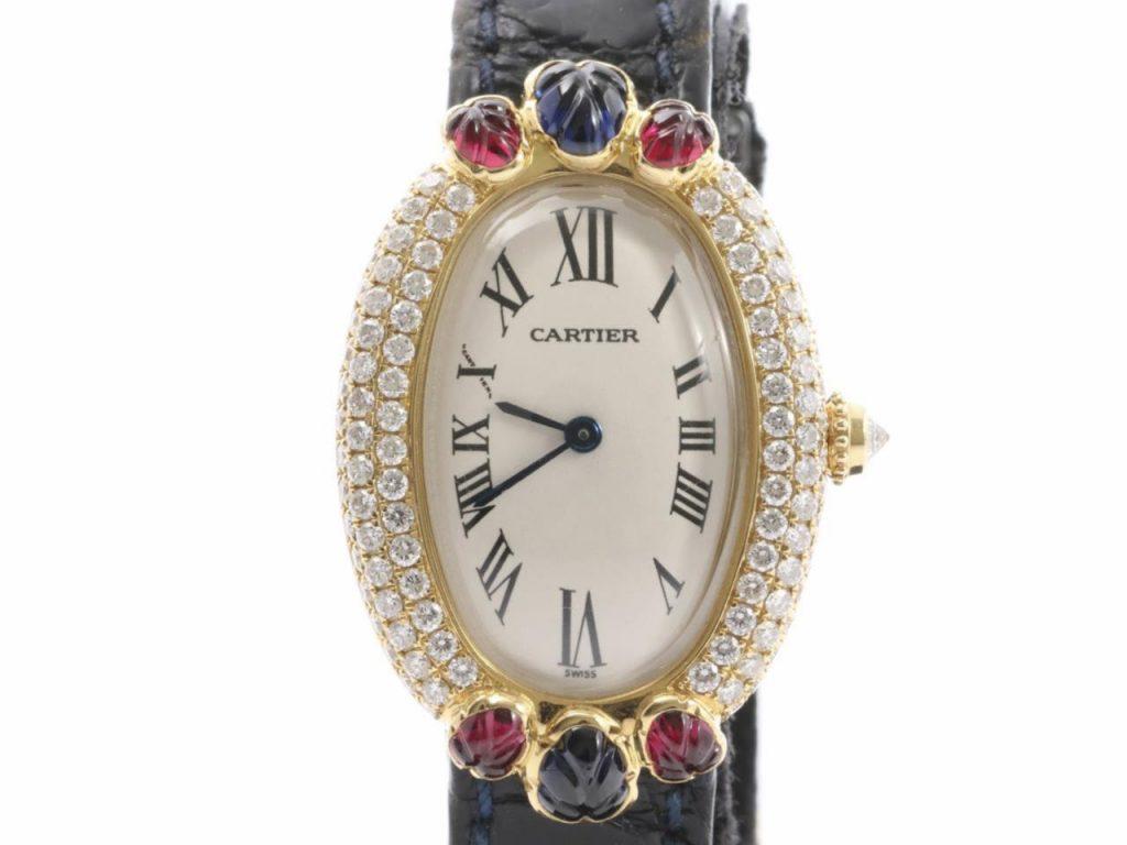 カルティエべニュワールSMルビー腕時計
