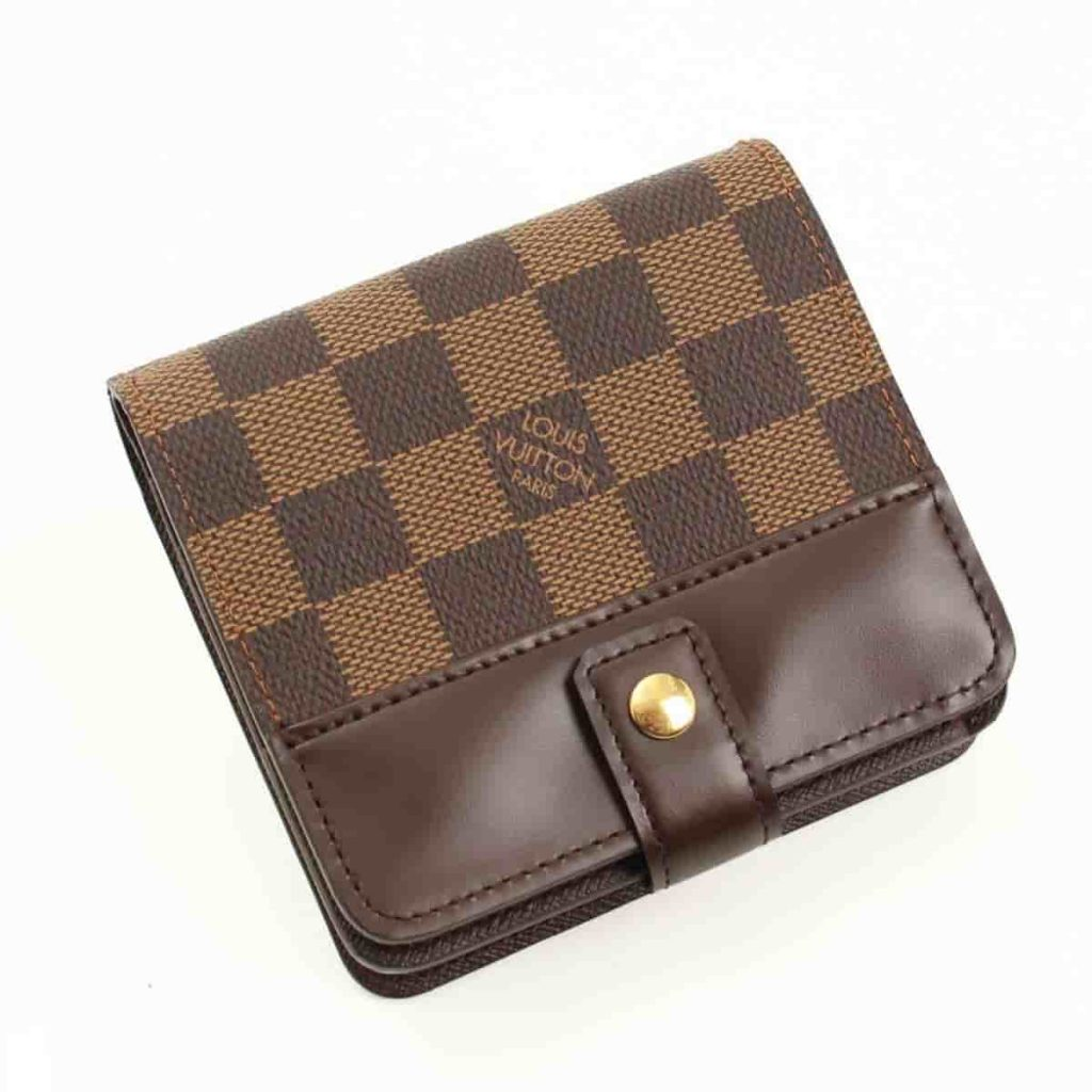 ルイヴィトン 買取 ダミエ コンパクトジップ 二つ折り財布