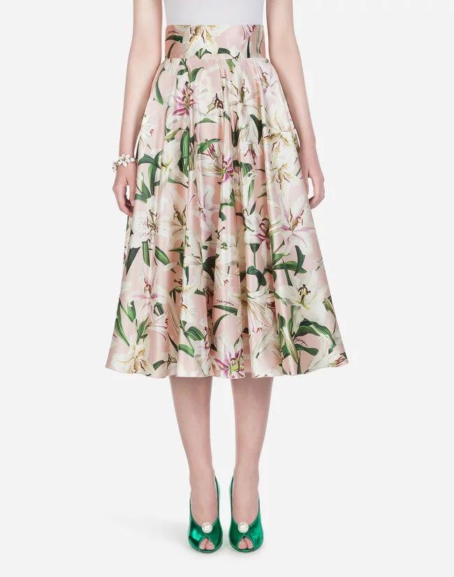 ドルチェ&ガッバーナ 花柄 リリウムプリント スカート