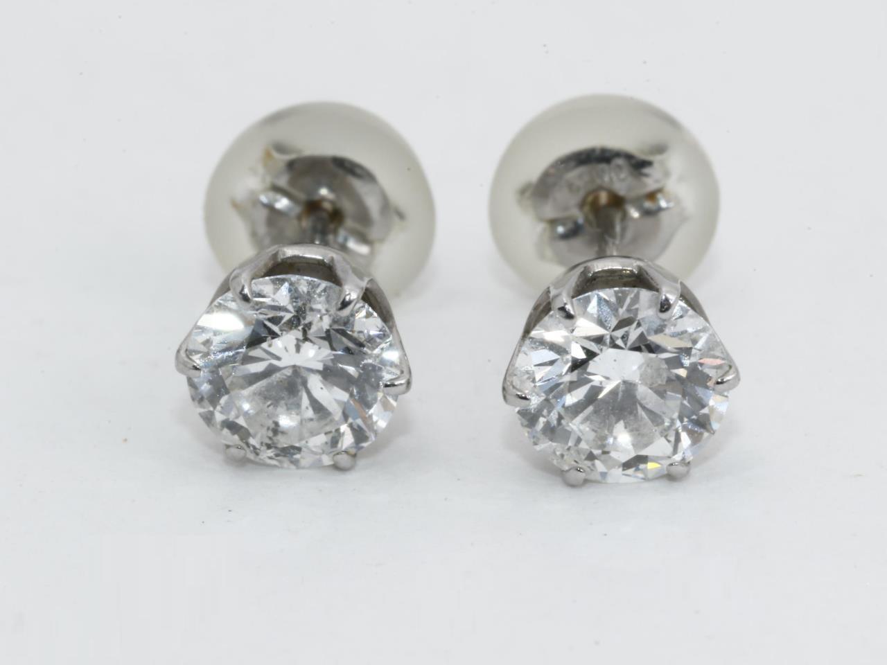 プラチナ ダイヤモンドピアス Pt900