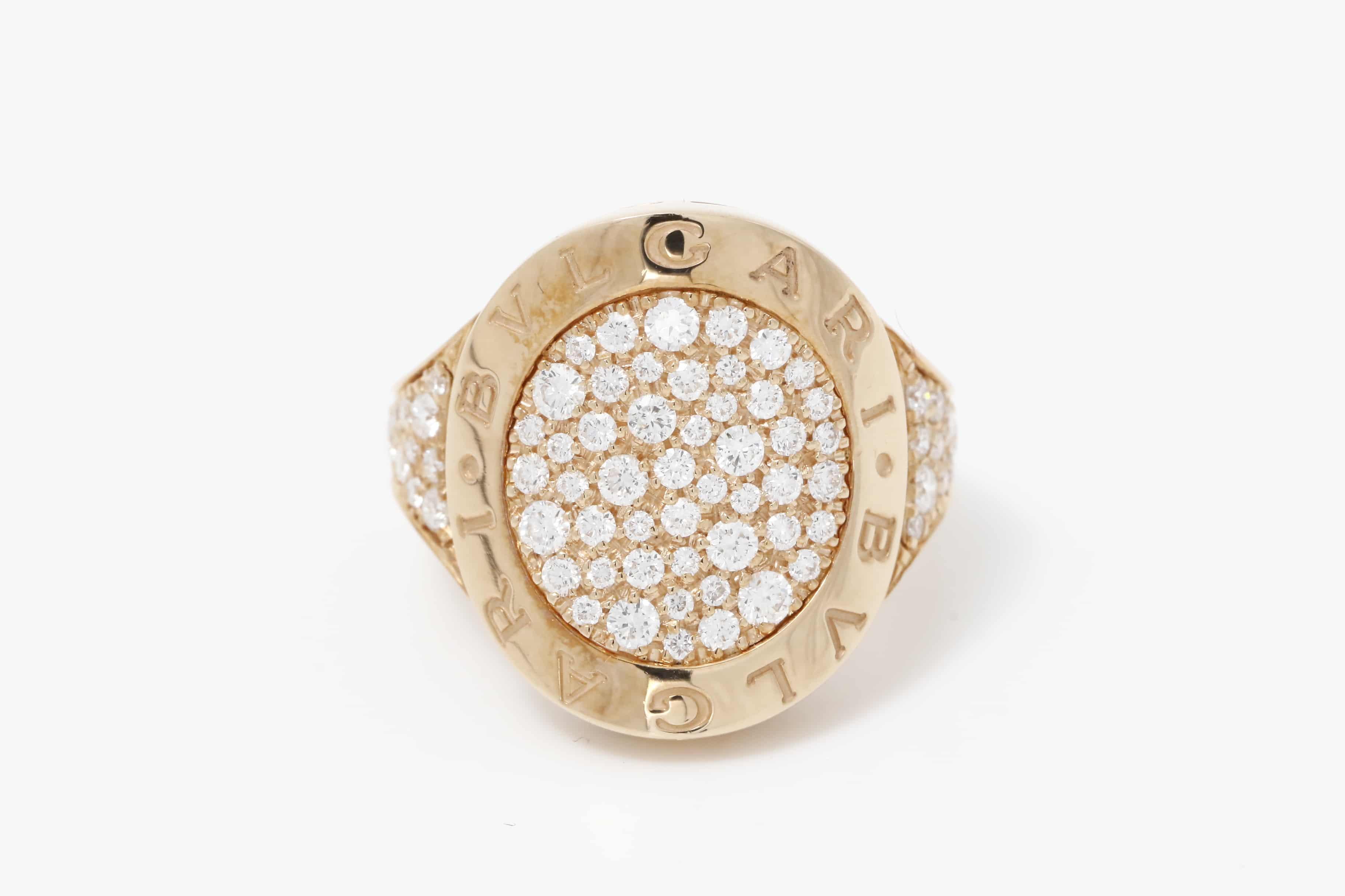 ブルガリ リヴァンティング ダイヤモンドリング